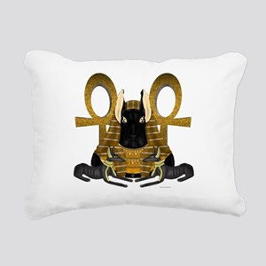 Anubis Statue Rectangular Canvas Pillow